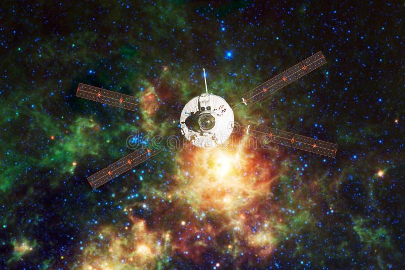 Raumfahrzeug-Produkteinf?hrung in Raum Sch?nheit des Weltraumes lizenzfreies stockfoto