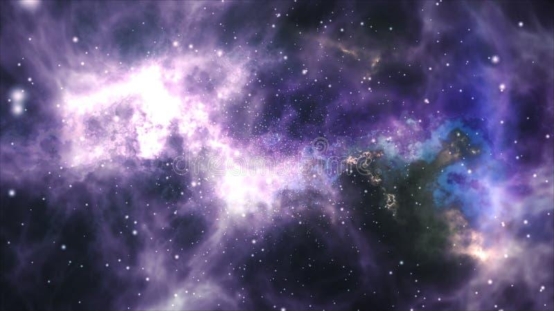 Raumflug durch den Nebelfleck vektor abbildung