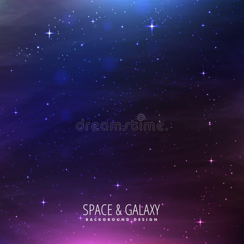 Raumgalaxiehintergrund vektor abbildung