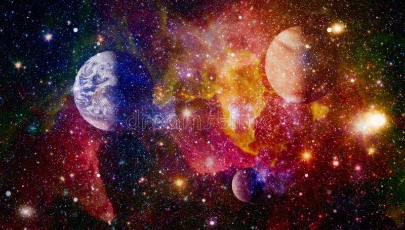Raumhintergrund der hohen Qualität Explosionssupernova Heller Stern-Nebelfleck Entfernte Galaxie Abstraktes Bild Elemente dieses  vektor abbildung