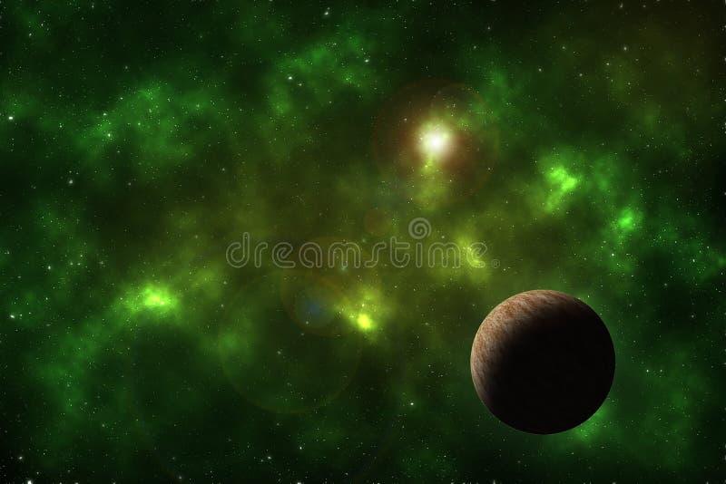 Raumhintergrund mit Planeten stock abbildung