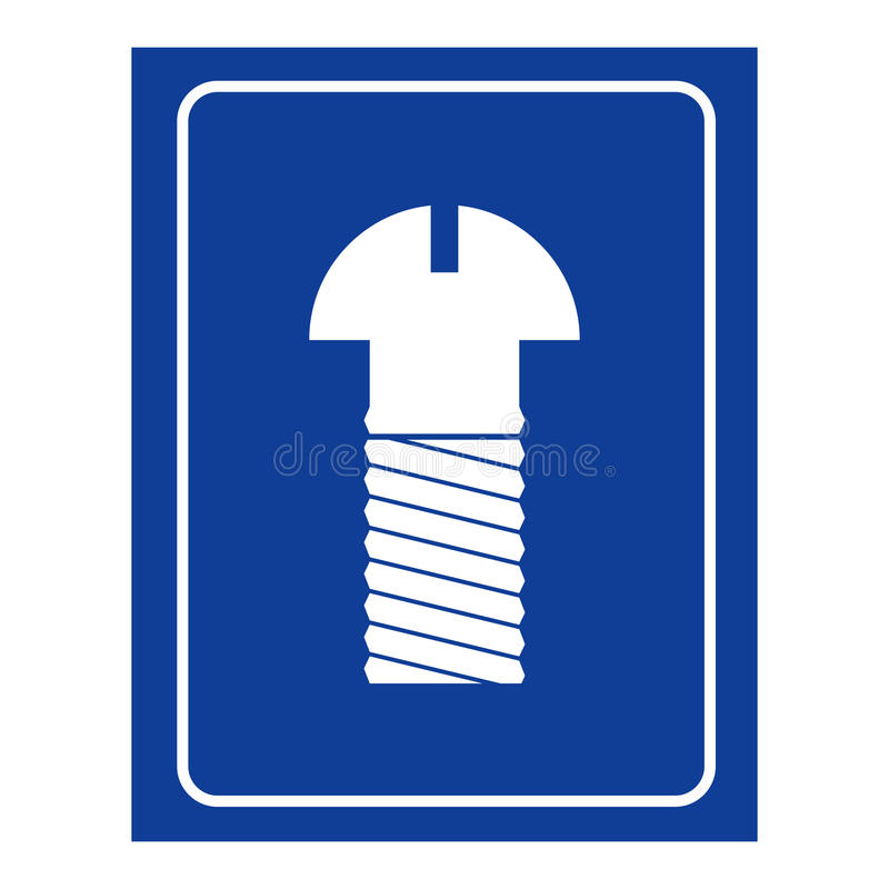 Raumikone der Schraubenmänner Logo für WC-Männer lizenzfreie abbildung