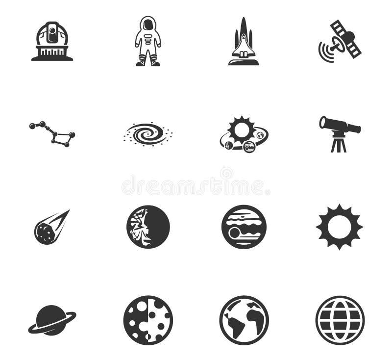 Raumikonen eingestellt stock abbildung
