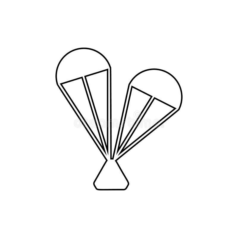 Raumlandungs-Modulikone Element des Raumes für bewegliches Konzept und Netz Appsikone Dünne Linie Ikone für Websitedesign und lizenzfreie abbildung