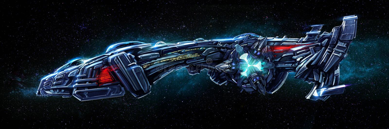 Raumschiff stock abbildung