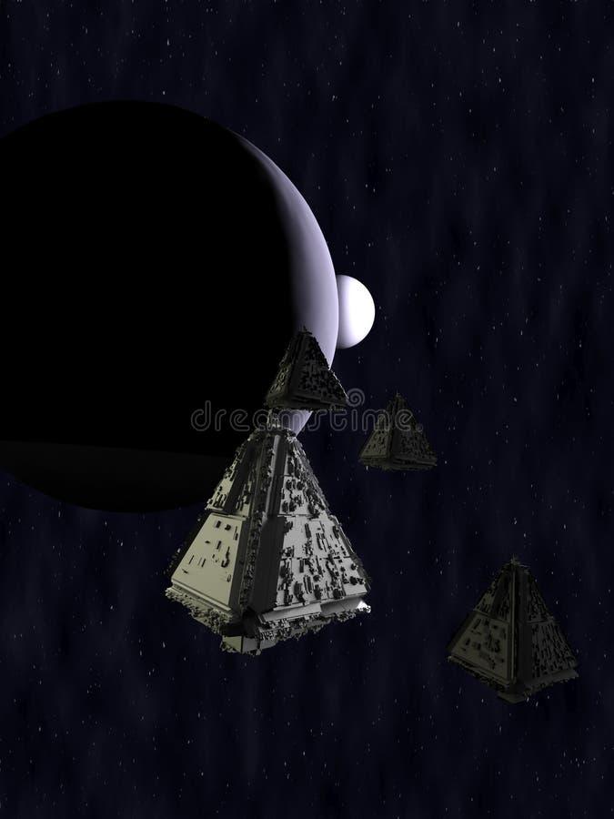 Raumschiff 3d übertragen lizenzfreie abbildung