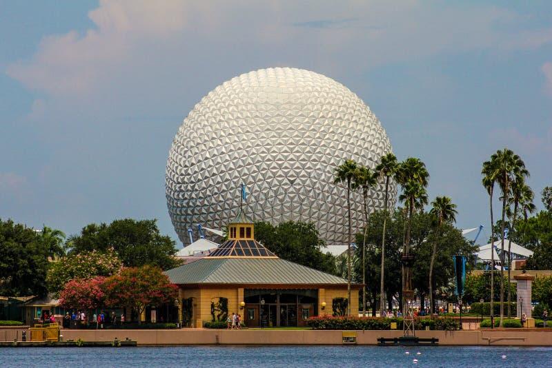 Raumschiff-Erde in Epcot-Mitte, Orlando Florida stockbilder