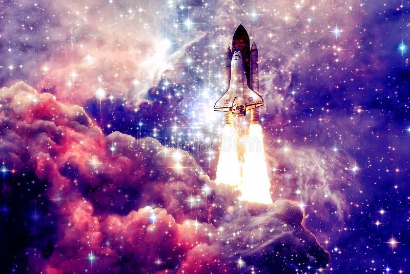 Raumschiff im Weltraum stockfotos