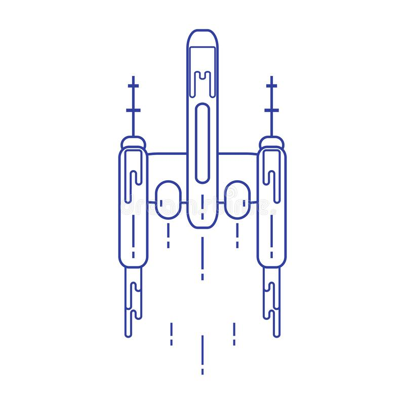 raumschiff Raumforschung, Wissenschaft, Technologie Design f?r Fahne, Plakat oder Druck lizenzfreie abbildung
