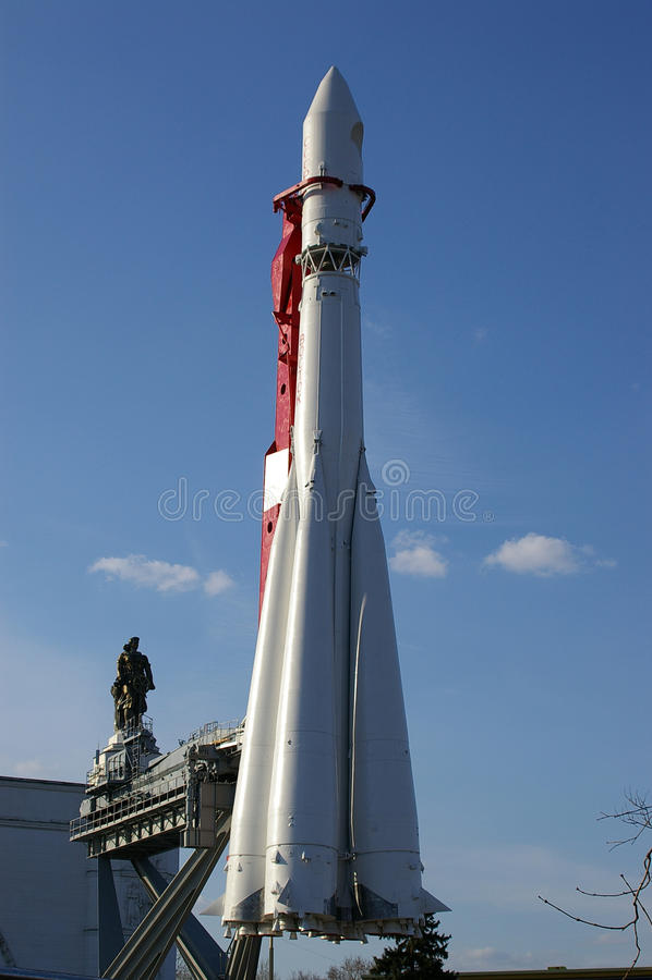 Raumschiff Vostok in Moskau stockbild