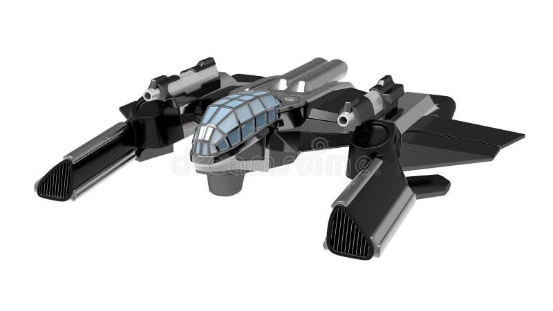 Raumschiffkämpfer 3d vektor abbildung
