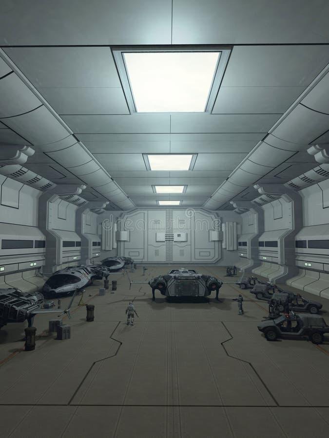 Raumstations-Aufhänger-Plattform vektor abbildung
