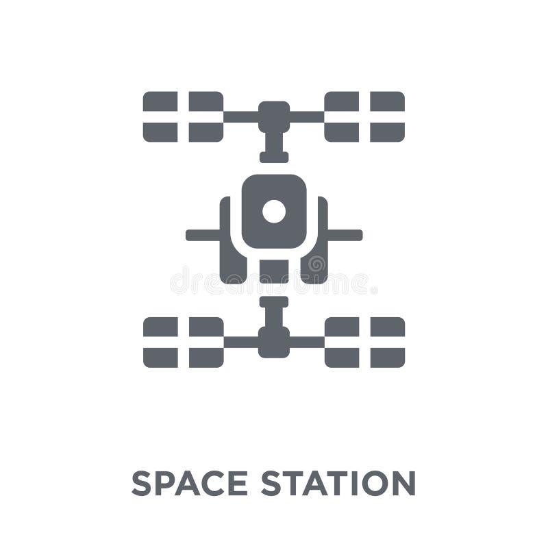 Raumstationsikone von der Astronomiesammlung stock abbildung