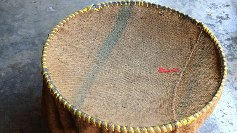 Rausschmi? des Leinwandgroben sackzeugs stockfoto