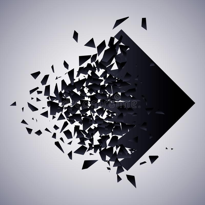 Rautenexplosions-Vektorillustration vektor abbildung