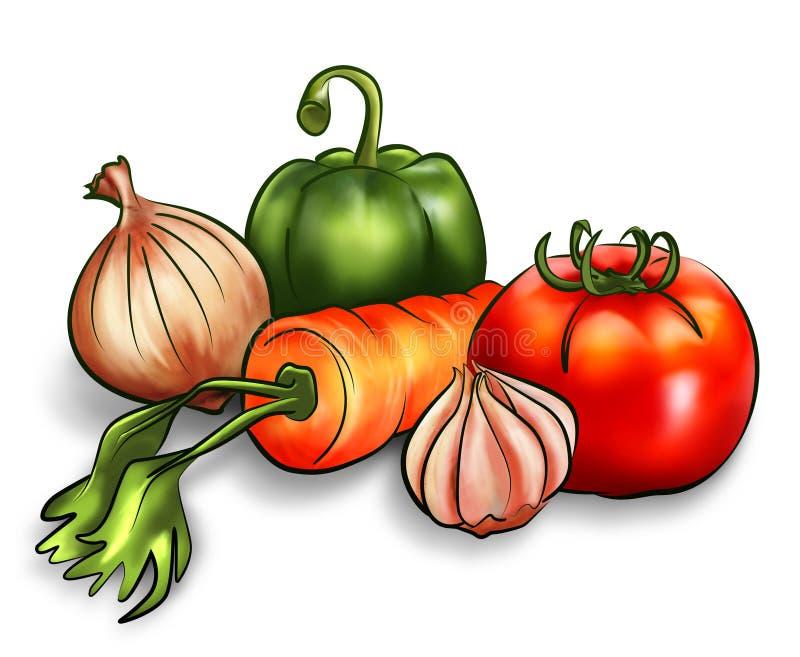 Rauwe groenten vector illustratie