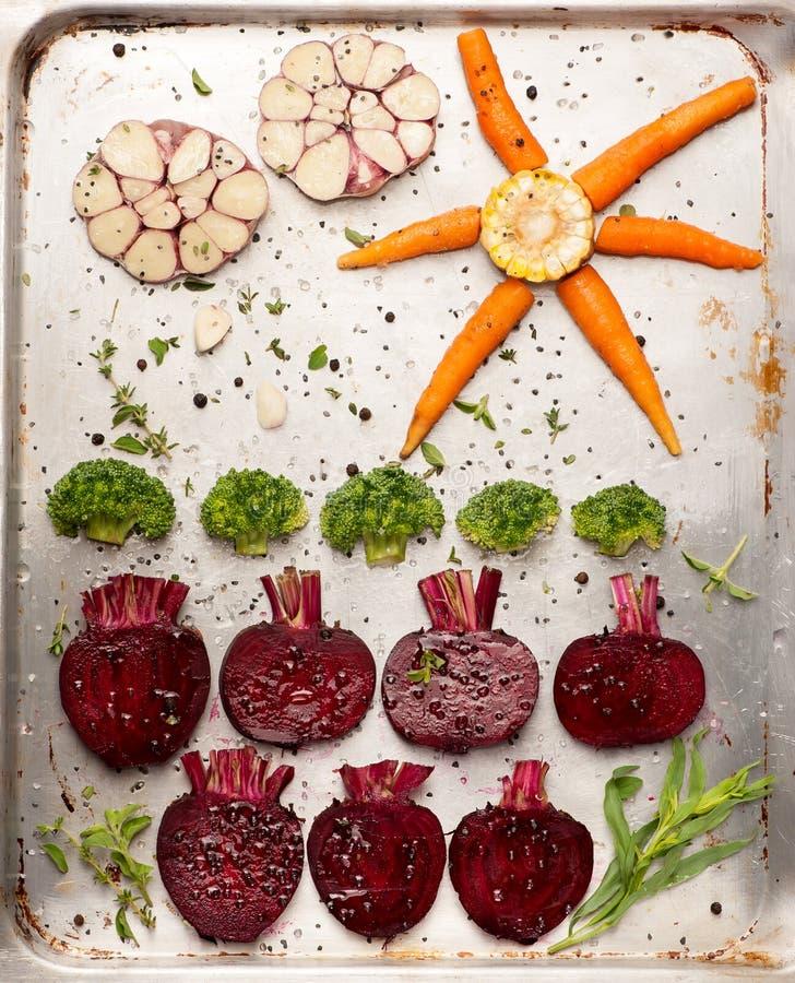 Rauwe groenten voor baksel stock foto's