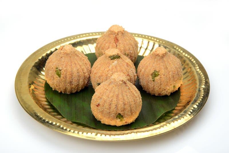 Rava and dry fruits Modak , a Maharashtrian traditional sweet royalty free stock photo