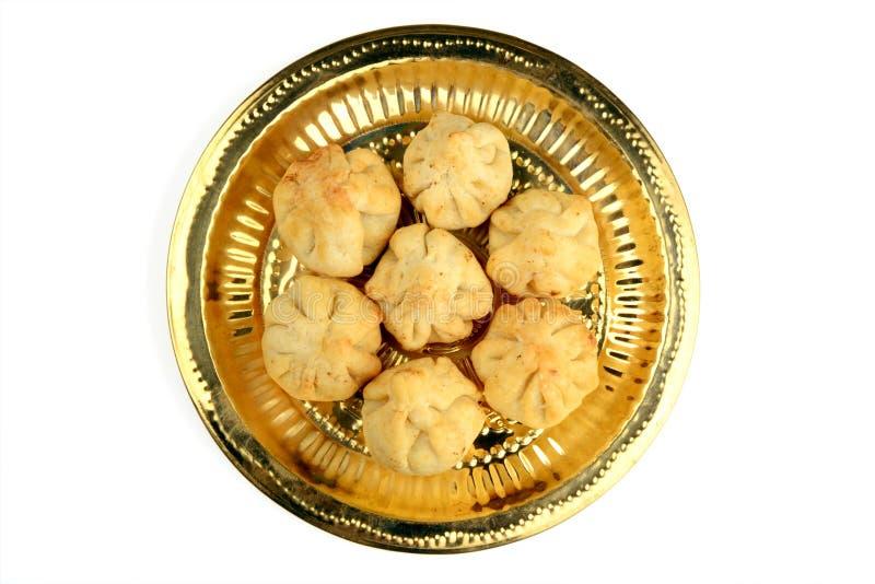 Rava Modak, een traditioneel snoepje van Maharashtrian royalty-vrije stock afbeeldingen