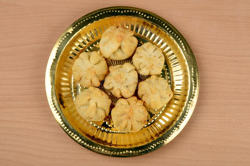 Rava Modak , a Maharashtrian traditional sweet stock photography