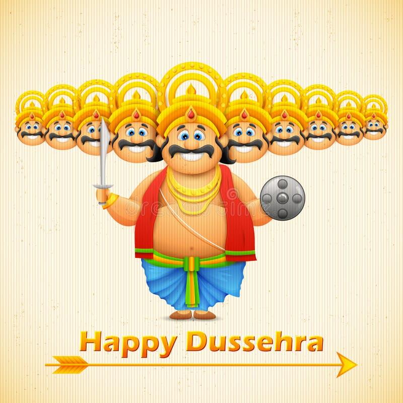 Ravana με δέκα κεφάλια για Dussehra διανυσματική απεικόνιση