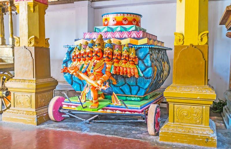 The Ravana cart in Munneswaram Temple stock photos