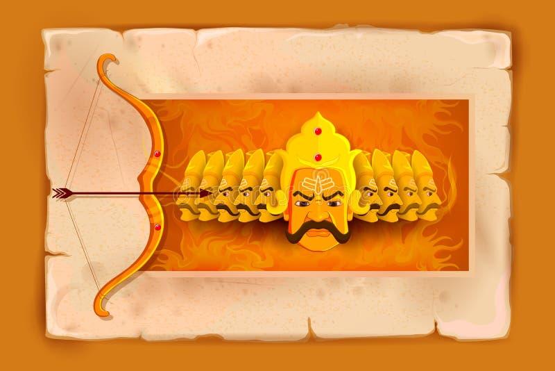 Ravana w Szczęśliwym Dussehra ilustracji