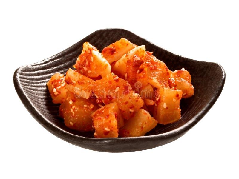 Ravanello marinato coreano fotografia stock