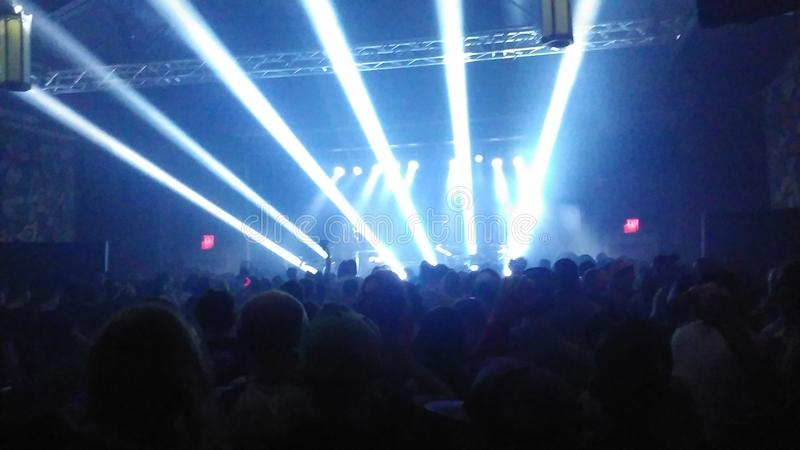 Rave. Concert party stage royalty free stock images