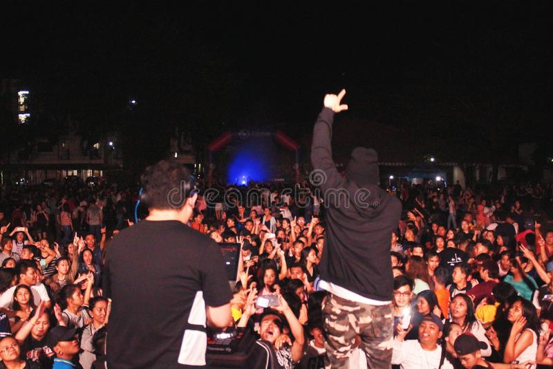Rave Party DJ stock photo