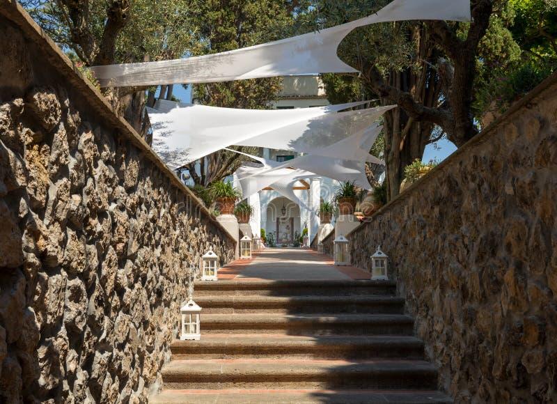 Ravellio μια πόλη και comune τοποθετημένος επάνω από την ακτή Ιταλία της Αμάλφης στοκ εικόνα με δικαίωμα ελεύθερης χρήσης