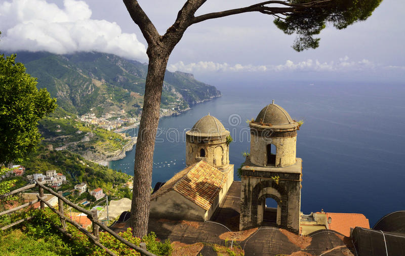 Ravello στην ακτή της Αμάλφης, Campania - Ιταλία στοκ εικόνα