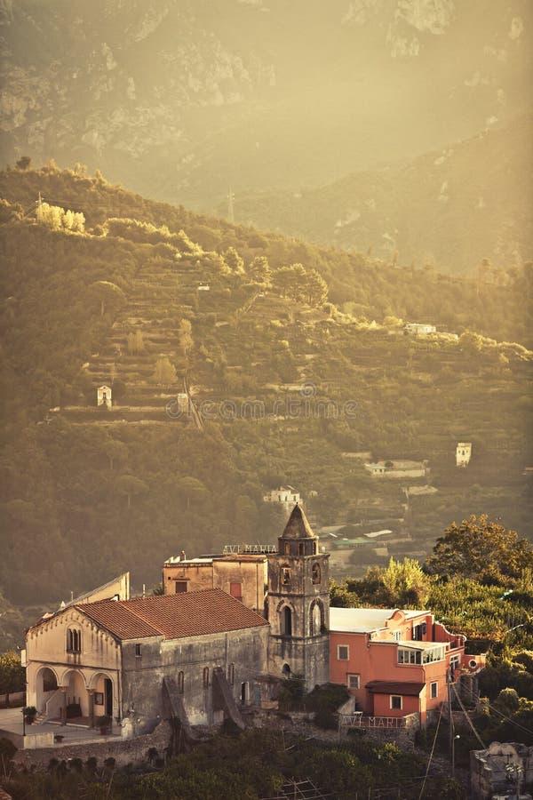 Ravello, свободный полет Амальфи, Италия. стоковые изображения rf