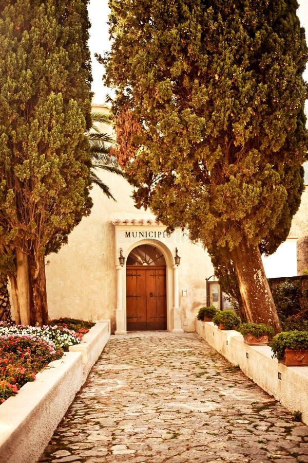 Ravello, свободный полет Амальфи, Италия. стоковые фото