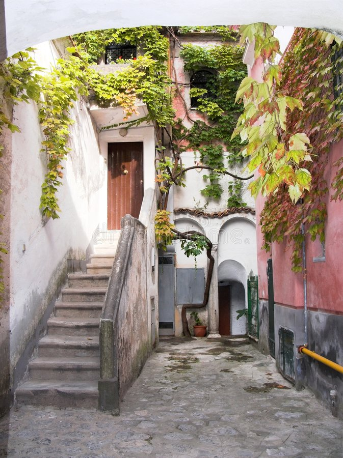 Free Ravello Alley Stairs Climber Stock Photo - 3231470