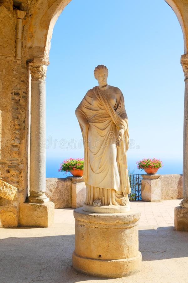 Ravello by, Amalfi kust av Italien arkivbilder