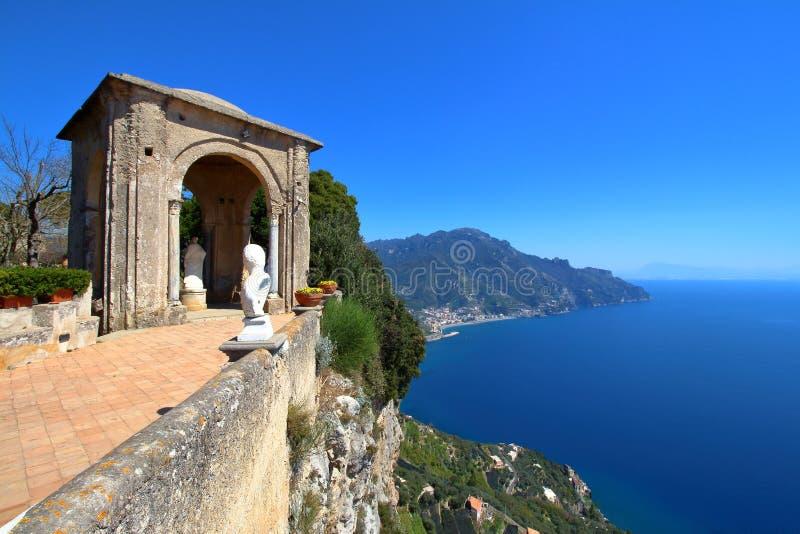 Ravello, costa de Amalfi, Italy fotografia de stock