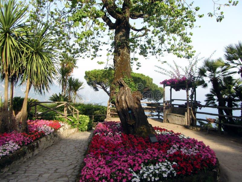 Ravello-Garten Italien lizenzfreie stockbilder