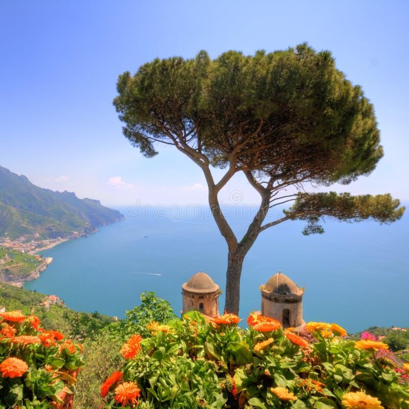 Ravello, litorale di Amalfi, Italia immagine stock