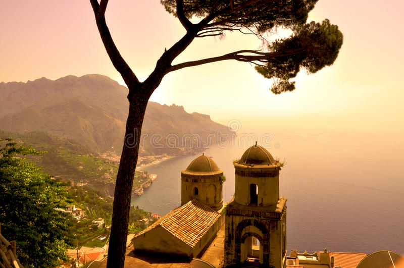 Ravello Villa stock photo
