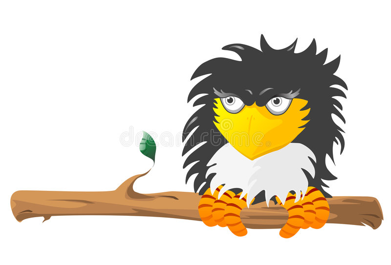 Download The Raven stock vector. Illustration of animal, vector - 4381058