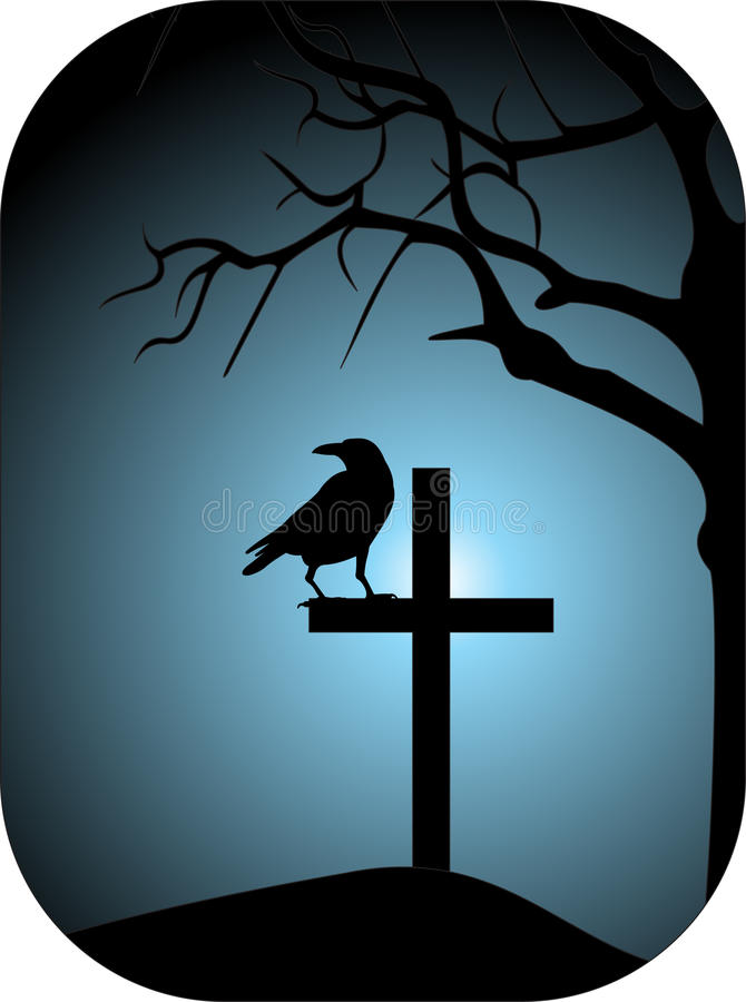 Raven illustration stock