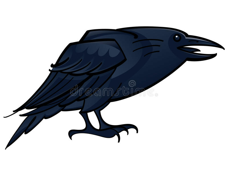 Download Raven Crow stock vector. Image of black, isolated, feather - 14044574