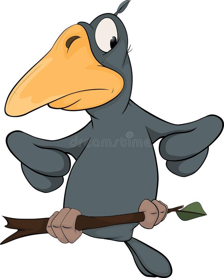 Raven da una fiaba. Fumetto illustrazione di stock
