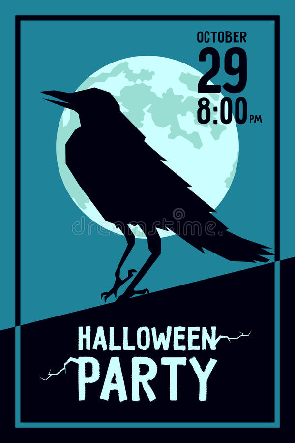 Raven Halloween Party vector illustratie