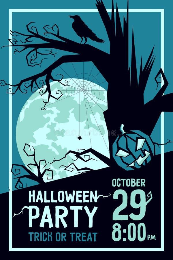 Raven Halloween Party stock illustratie