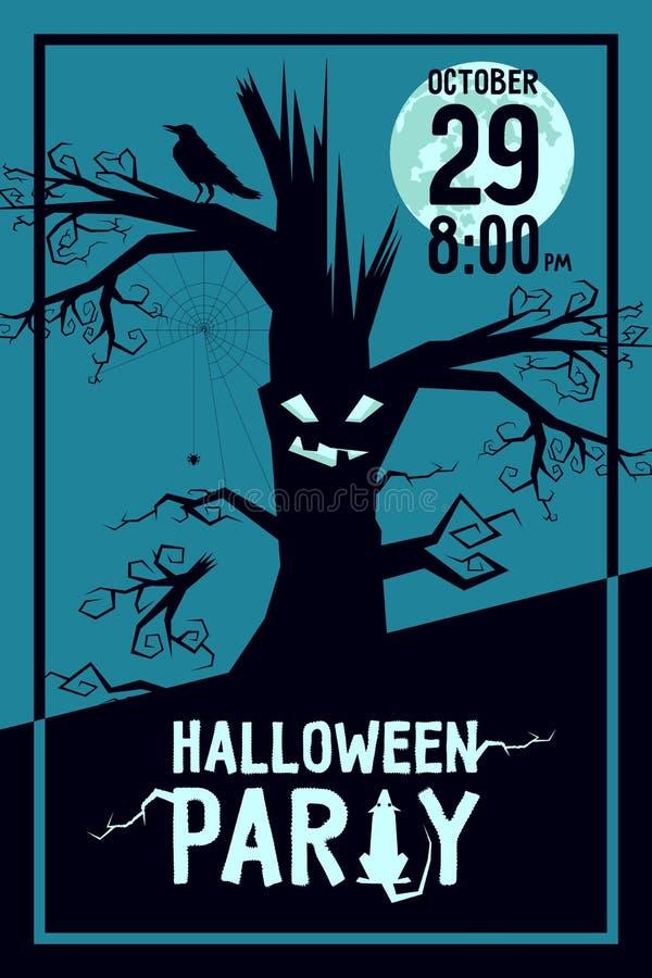 Raven Halloween Party vector illustratie