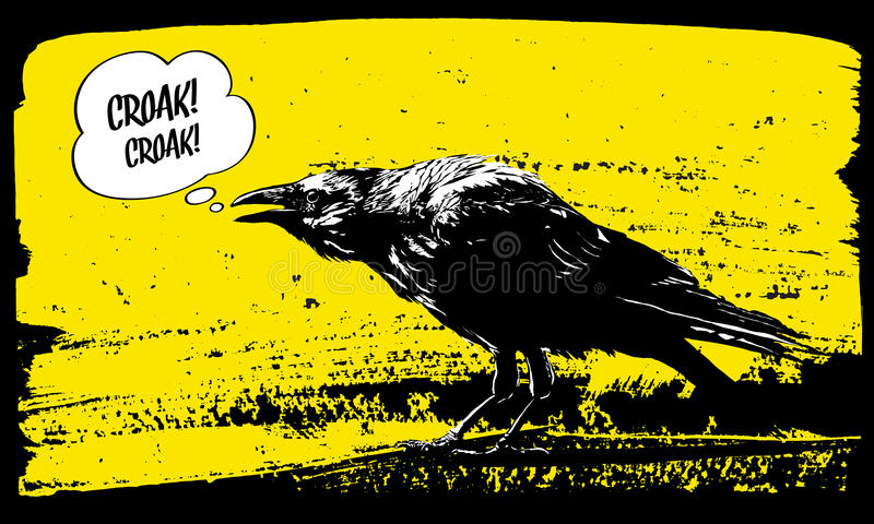 Raven illustration. stock illustration
