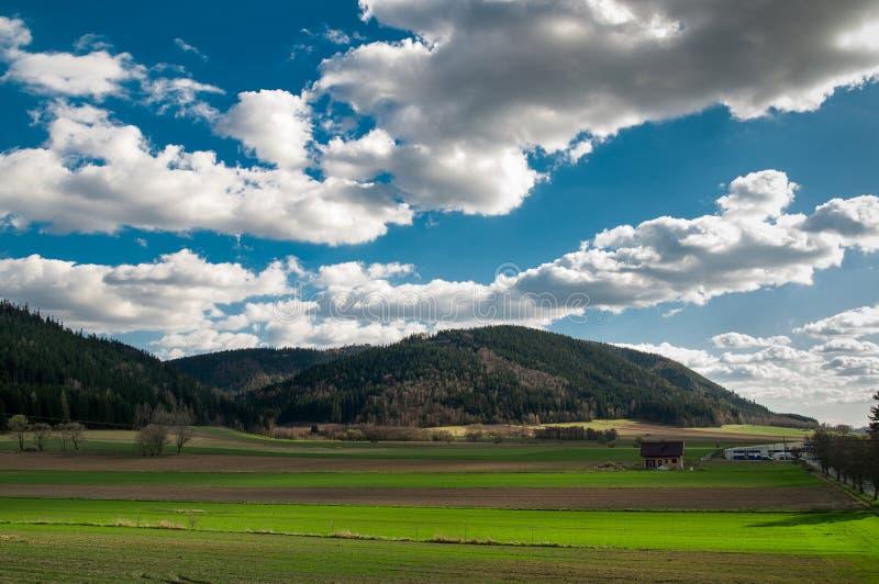 Raven valley, Lubawka stock images