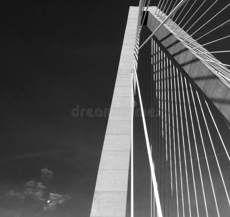 Ravenel Bridge or The Cooper River Bridge. The Ravenel Bridge also known as The Cooper River Bridge in Charleston South Carolina stock photo